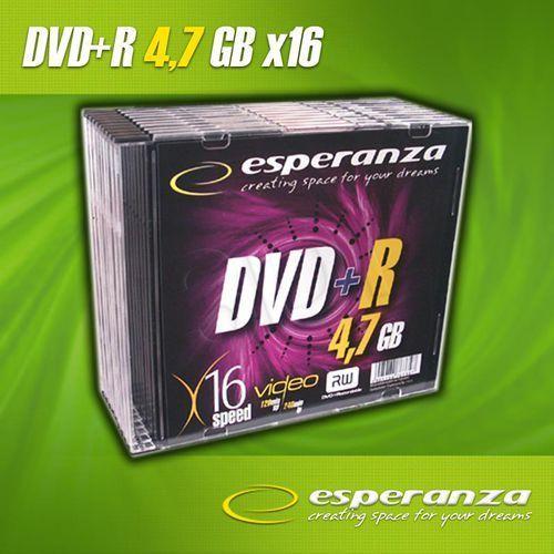 Esperanza DVD+R 4.7GB 16x Slim (10szt.) / DARMOWA DOSTAWA / DARMOWY ODBIÓR OSOBISTY!, 1118