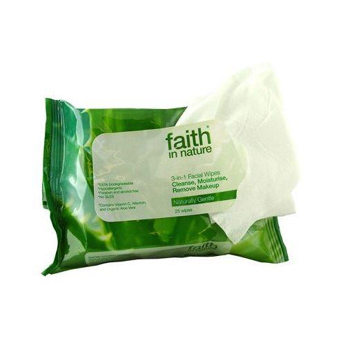Faith in nature Chusteczki nawilżane do twarzy 3 w 1 - , kategoria: chusteczki nawilżane