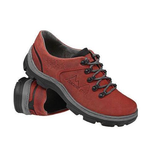 Półbuty buty trekkingowe 1392 czerwone - czerwony marki Kornecki