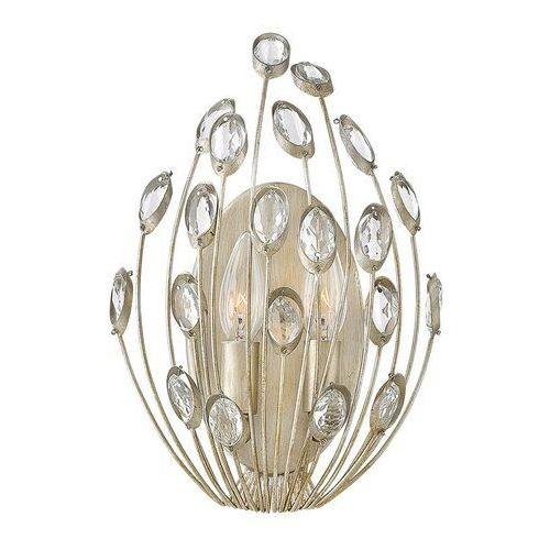 Kryształowa lampa ścienna Tulah, srebro płatkowe