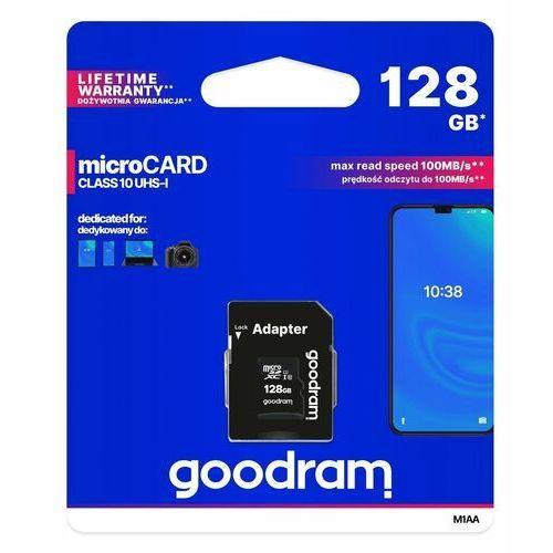 GOODRAM Karta pamięci microSDHC 128GB CL10 UHS I + adapter, 1_666880