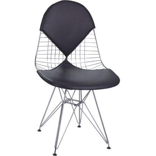 D2.design Krzesło net double czarna poduszka modern house bogata chata