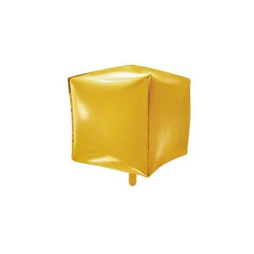 Party deco Balon foliowy sześcian złoty - 35 cm - 1 szt.
