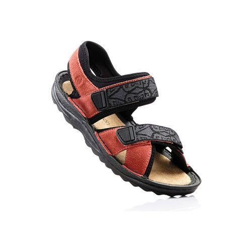 Sandały trekkingowe ze skóry bonprix łososiowy