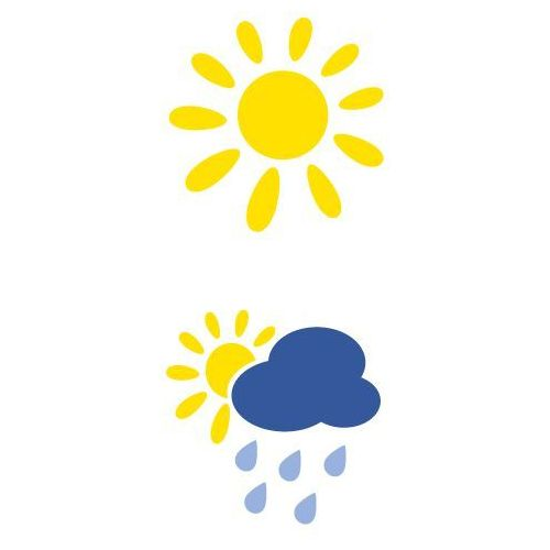 Szablon malarski z tworzywa, wielorazowy, wzór dla dzieci 64 - pogodynka marki Szabloneria