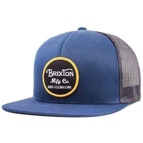 Brixton Czapka z daszkiem - wheeler mesh cap navy/charcoal (nvchr) rozmiar: os