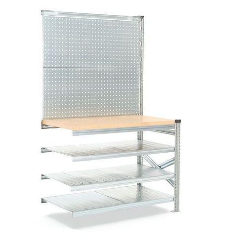 Stół roboczy transform, 1972/916x1200x600 mm z panelem narzedziowym marki Aj produkty
