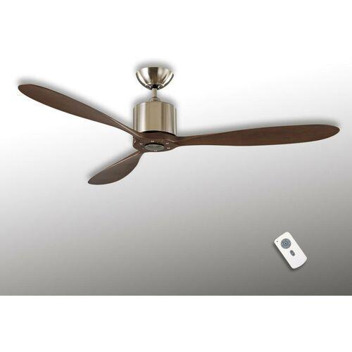 Aeroplan Eco - wentylator sufitowy, chrom/orzech (4024397363872)