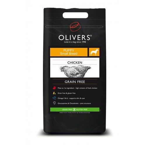 Olivers dog gf puppy chicken - 4kg marki (bez zařazení)