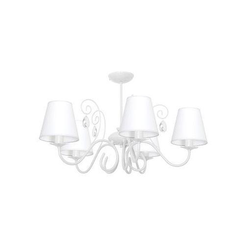 Lampa oprawa wisząca zwis sara 5x60w e14 biała 1049 marki Milagro