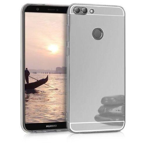 Slim mirror case srebrny | etui dla huawei p smart