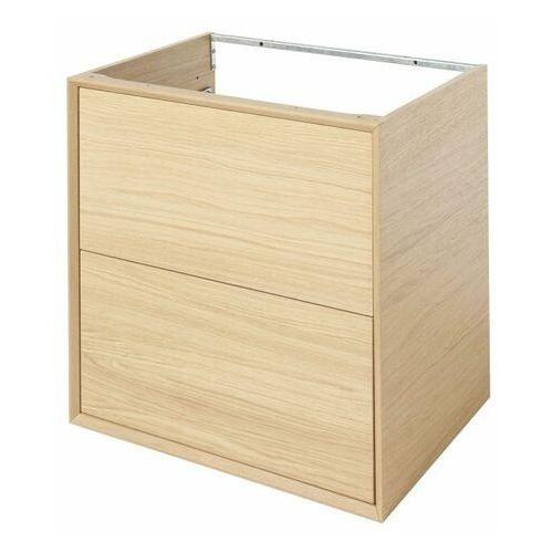 Goodhome Szafka z szufladami pod umywalkę avela 60 cm drewno