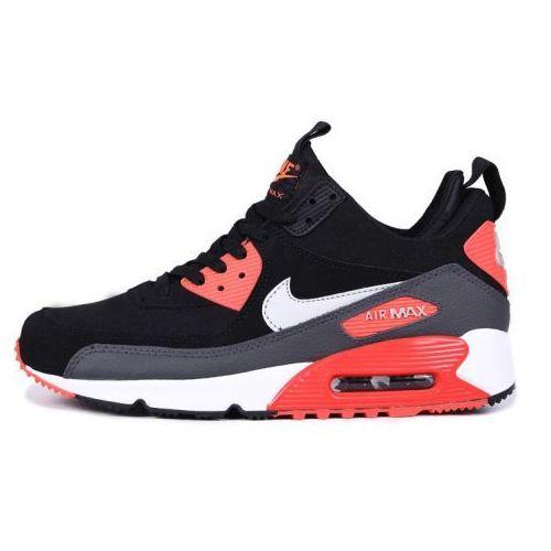 buty nike air max 90 sneakerboot szare/czarne/białe/koralowe