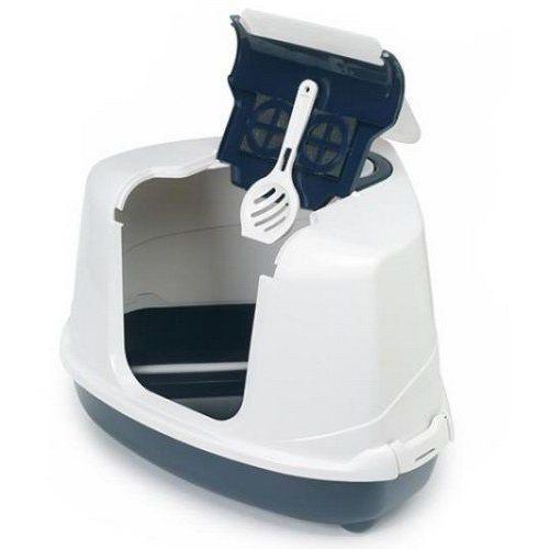 Yarro Toaleta Moderna narożna z filtrem szara (5901436134015)
