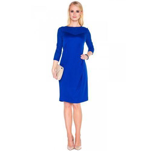 Kobaltowa sukienka z dzianiny - Vito Vergelis, kolor niebieski