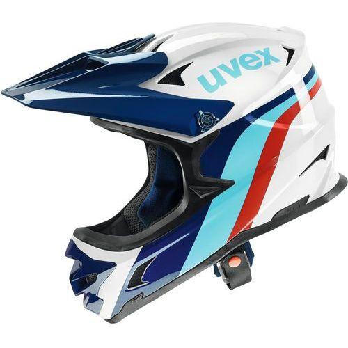 Kask UVEX HLMT 10 bike biały-czarny-czerwony-błękitny-granatowy / Rozmiar: M (4043197298061)