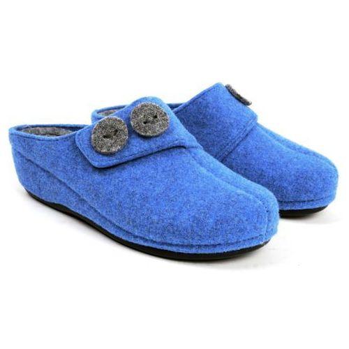 Błękitne pantofle domowe damskie  121-42-F-G 39 błękitny, Panto Fino