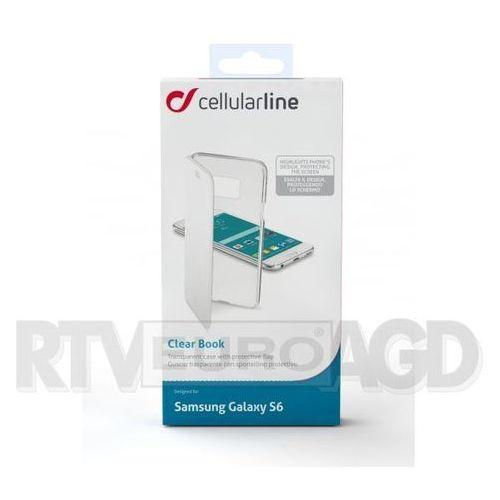 Etui CELLULAR LINE Clear Book do Samsung Galaxy S6 Biały z kategorii Futerały i pokrowce do telefonów