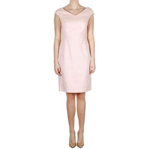 Różowa sukienka koktajlowa (Kolor: różowy, Rozmiar: 42)
