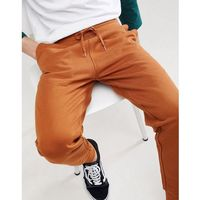 Asos design slim joggers in dark orange - orange