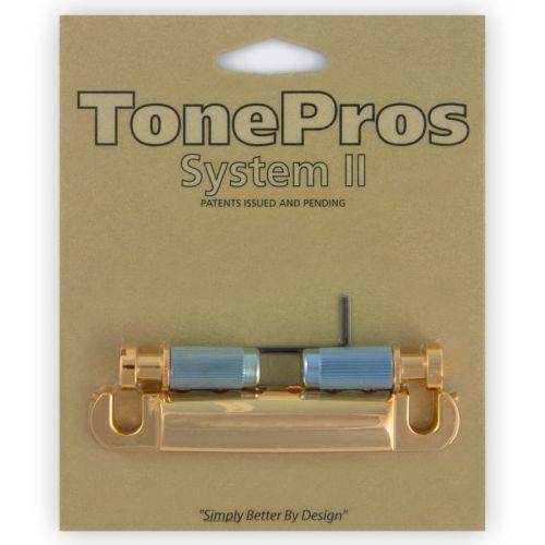 Tonepros t1z-g - tailpiece, części mostka do gitary, złote