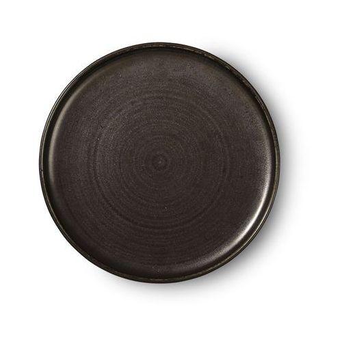 HK Living Kolekcja Kyoto: rustykalny talerz obiadowy czarny ACE6843, ACE6843