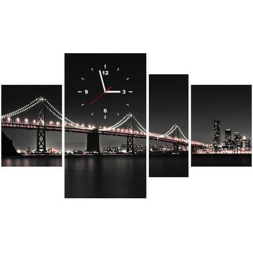Zegar w obrazie - Czerwony most w San Francisco - Tanel Teemusk