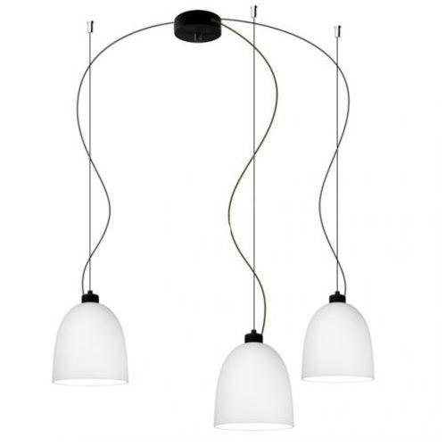 Sotto luce Lampa wisząca awa 3/s/opal matte szklana oprawa zwieszana biała matowa