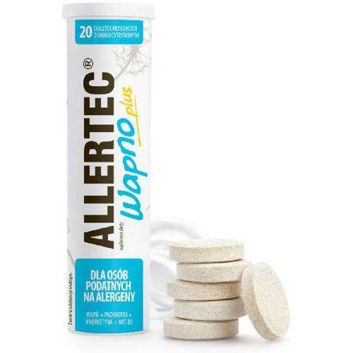 Polpharma Allertec wapno plus x 20 tabletek musujących