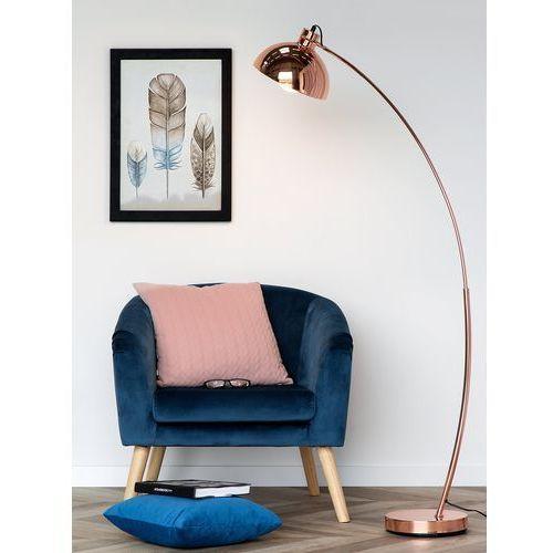 Lampa podłogowa metalowa miedziana DINTEL (4260586357738)