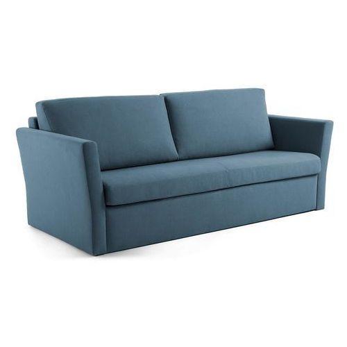 Sofa z funkcją spania booggy 220x100 kolor niebieski marki 9design