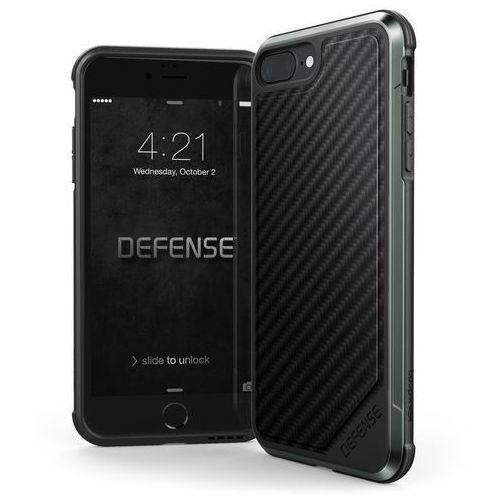 X-Doria Defense Lux - Etui aluminiowe iPhone 8 Plus / 7 Plus (Black Carbon Fiber), kolor czarny