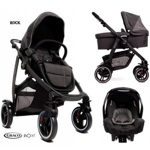 Wózke spacerowy GRACO Evo XT 3 w 1 - rock