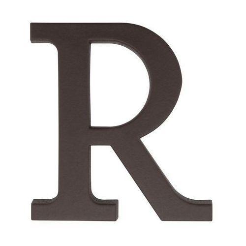 Litera R wys. 9 cm PVC brązowa (5901912823396)