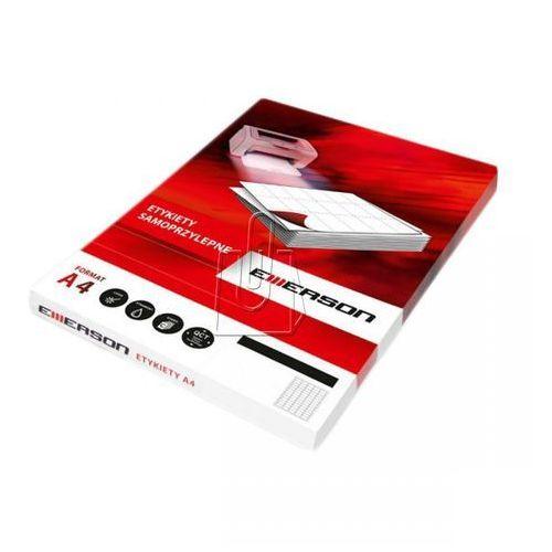 Etykiety samoprzylepne A4 Emerson, nr 23, wymiary 105 x 37 mm, opakowanie 100 arkuszy po 16 etykiet - Autoryzowana dystrybucja - Szybka dostawa - Tel.(34)366-72-72 - sklep@solokolos.pl, ETYAEM-0023