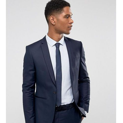 Noak Super Skinny Wedding Suit Jacket in Navy - Navy, kolor szary