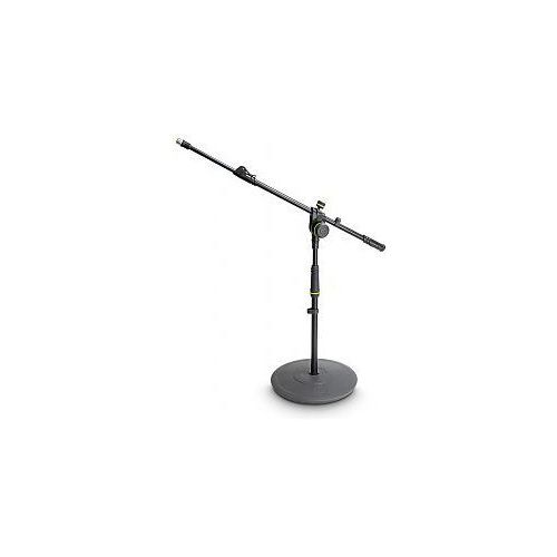 Gravity MS 2222 B - statyw mikrofonowy, Short Microphone Stand With Round Base And 2-Point Adjustment Telescoping Boom