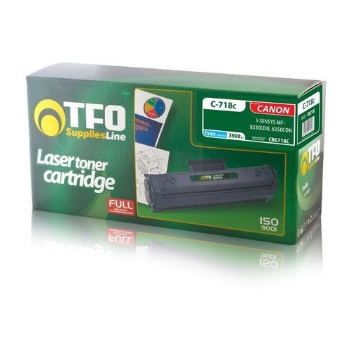 Toner tfo c-718c (crg718c, cy) 2.8 do canon i-sensys lbp7200cdn, i-sensys mf8330 marki Telforceone