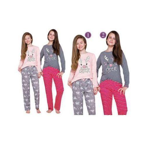 Piżama dziecięca oda: róż/szary marki Taro