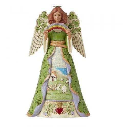 """Jim shore Anioł z tęczą i koniczyną szczęścia """"błogosławieństwo dla was"""" blessings be upon 'ye' 6008403 figurka dewocjonalia"""