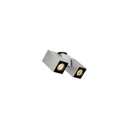 Spot LAMPA sufitowa SQUAR II 70037204 Kaspa metalowa OPRAWA natynkowa minimalistyczna regulowana srebrna (5902047300127)