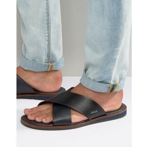 Ted baker  punxel leather cross over sandals - black