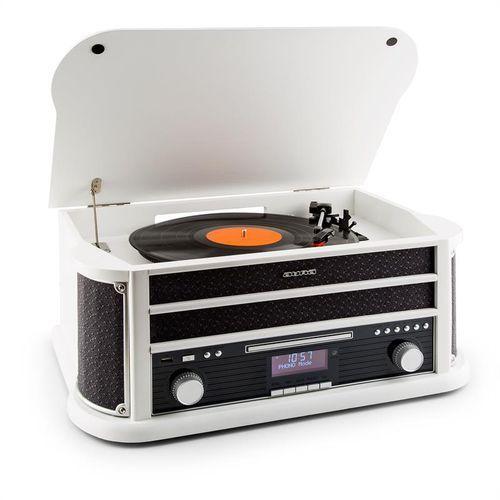 belle epoque 1908 dab wieża stereo retro gramofon dab+ bluetooth biała marki Auna