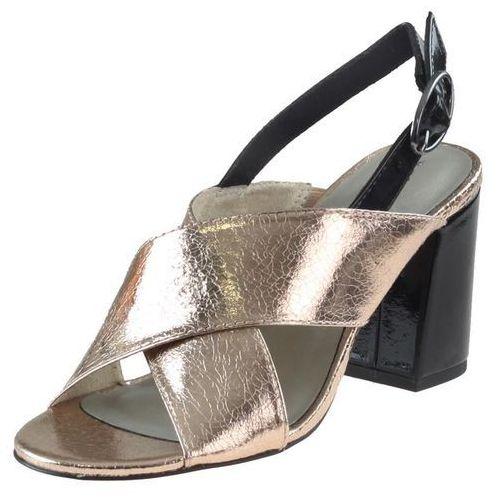 Sandały 28395 różowo-czarne, Tamaris
