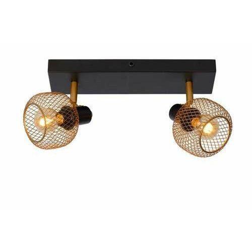 Lucide maren 77978/02/02 plafon lampa sufitowa 2x40w e14 złoty/czarny