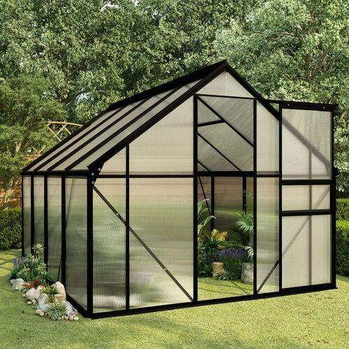 Vidaxl szklarnia, antracytowa, aluminium, 4,75 m²