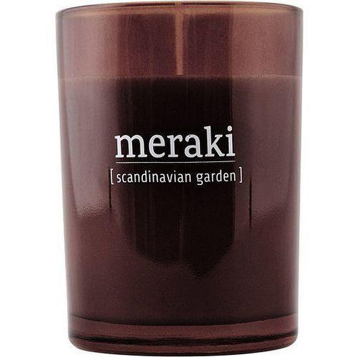 Świeca zapachowa w ciemnym szkle duża scandinavian garden marki Meraki