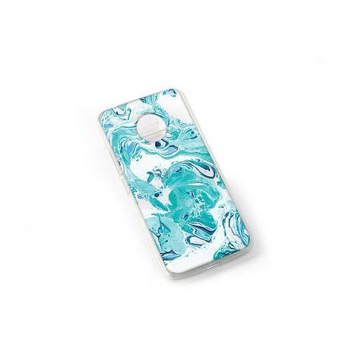 Fantastic Case - Lenovo Moto G5 - etui na telefon Fantastic Case - niebieski marmur, kolor niebieski