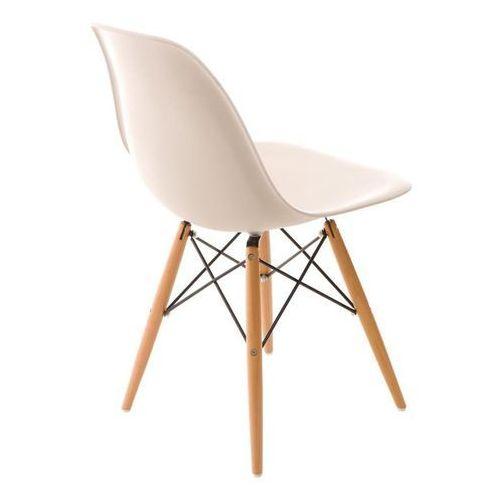 Krzesło P016W PP inspirowane DSW - beżowy, kolor beżowy