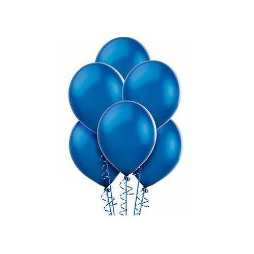Balony lateksowe metaliczne średnie - niebieskie - 100 szt.